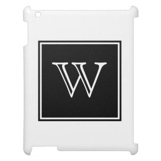 Black Square Monogram iPad Cases