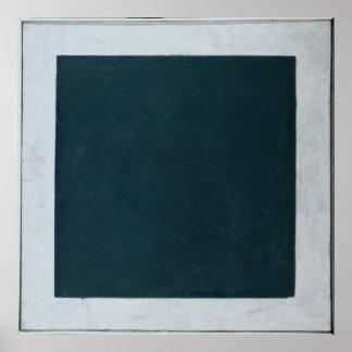 Black Square Poster