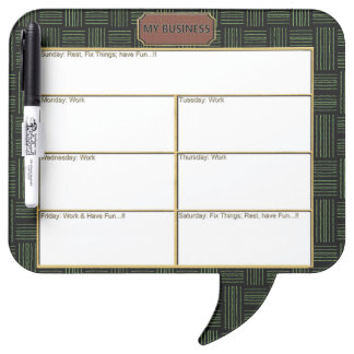 Black Square Speech Bubble w/ Pen Dry Erase Board