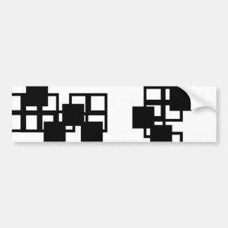 Black Square Sticker (White) Bumper Sticker