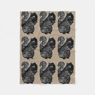 Black Squirrels Fleece Blanket