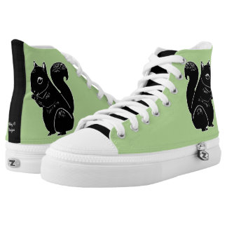 Black Squirrels Light Green Shoes