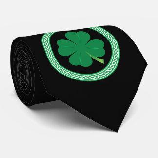 Black St. Patrick's Day Celtic Shamrock Tie