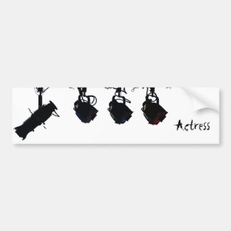 Black Stage Light Silhouettes Digital Camera Bumper Sticker