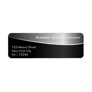 Black Stainless Steel, Matching Address Label