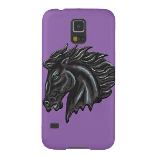 Black Stallion / Choose your own background color Galaxy S5 Cover