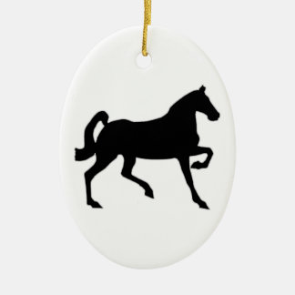 Black Stallion Christmas Tree Ornaments