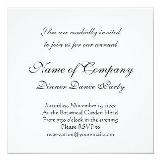 "Black Stallion Elegant Horse Silhouette Drawing 5.25"" Square Invitation Card"