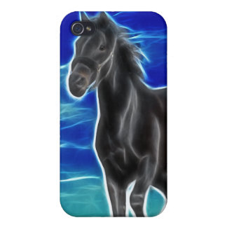 Black Stallion Horse Case For iPhone 4