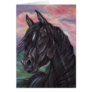 BLACK STALLION Horse Note Card
