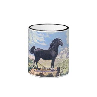 Black Stallion King Of The Rockies Coffee Mugs
