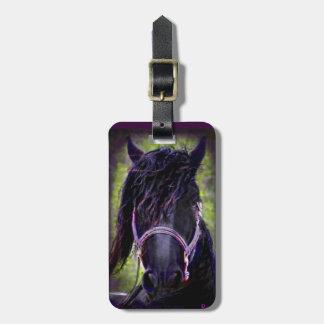 Black Stallion Luggage Tag