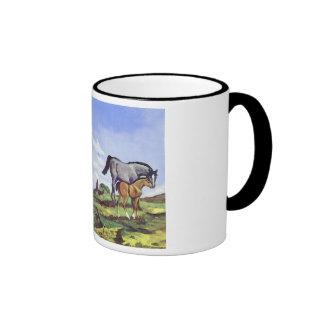 Black Stallion Mare and Colt Mugs