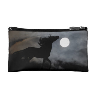Black Stallion Night Silhouette Makeup Bag