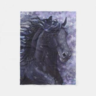 Black Stallion Small Fleece Blanket