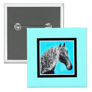 Black Stallion Star Pin