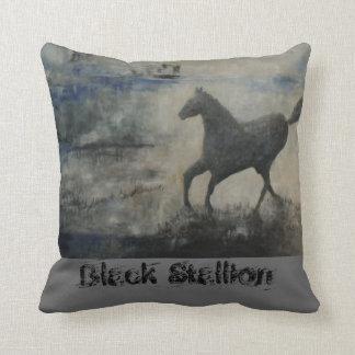 Black Stallion Throw Cushions