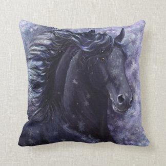 Black Stallion Throw Pillow Throw Cushions