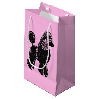 Black Standard Poodle Pink Glossy Gift Bag