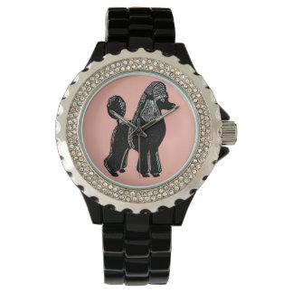 Black Standard Poodle Women's Wristwatch