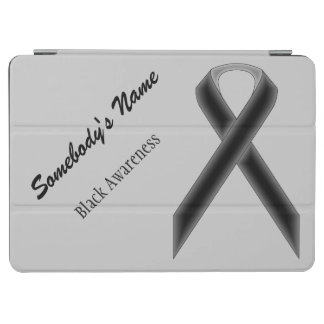 Black Standard Ribbon by Kenneth Yoncich iPad Air Cover