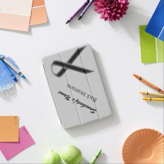 Black Standard Ribbon by Kenneth Yoncich iPad Mini Cover