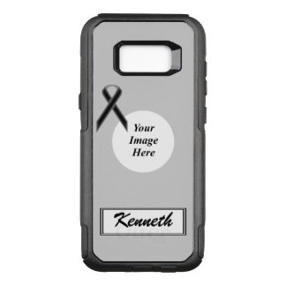Black Standard Ribbon Template by Kenneth Yoncich OtterBox Commuter Samsung Galaxy S8+ Case