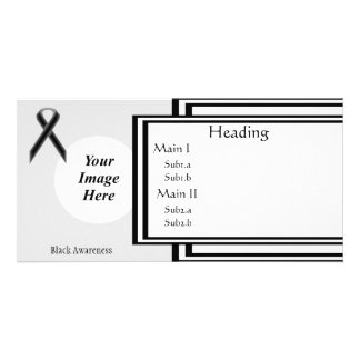 Black Standard Ribbon Template Personalised Photo Card