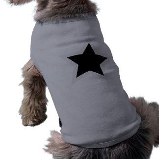 Black Star Bold White Outline Pet Tee Shirt