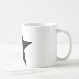 black star icon basic white mug