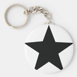 black star icon key chain