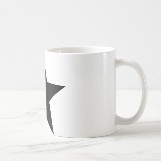 black star icon coffee mug