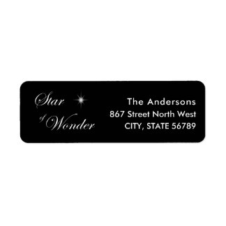 Black Star of Wonder Gothic Family Christmas Return Address Label