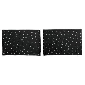 Black Starry Sky Design Pillow Cases