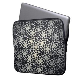 Black Stars Computer Case Laptop Sleeve