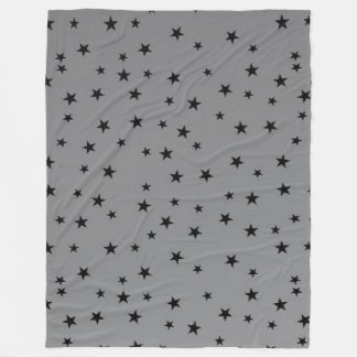 black stars grey throw blanket