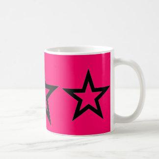 Black Stars on Pink - Mug