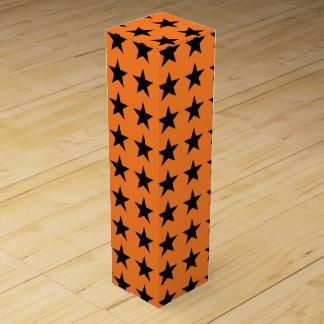 Black Stars Orange Wine Gift Box