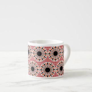 Black stars pattern espresso cup