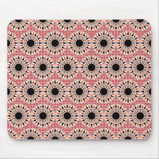 Black stars pattern mouse pad