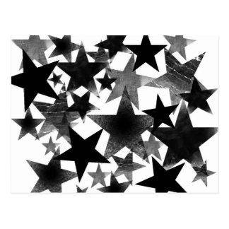 Black Stars Postcard