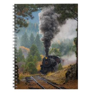 Black Steam Engine Notebook