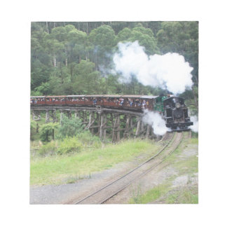 Black Steam Engine Train Notepad
