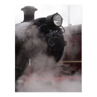 Black Steam Train Postcard