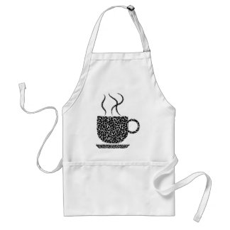 Black Steaming Cup Standard Apron