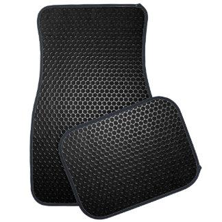 Black Steel Speaker Mesh Floor Mat