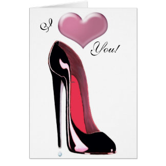 Black Stiletto Shoe Art Card