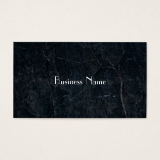 Black Stone Abstract Grunge Texture Elegant Business Card