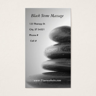 Black Stone Massage Business Card
