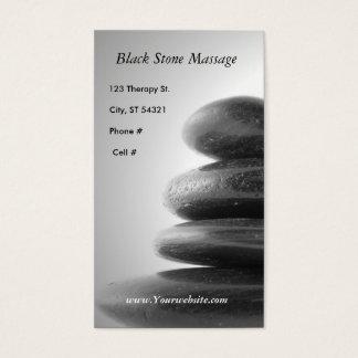 Black Stone Massage Business Card